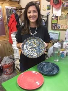 Beginning Ceramics Student