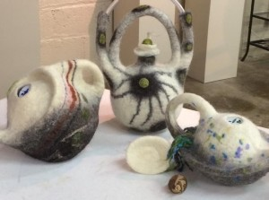 Felted Teapots with artist Pam McGregor