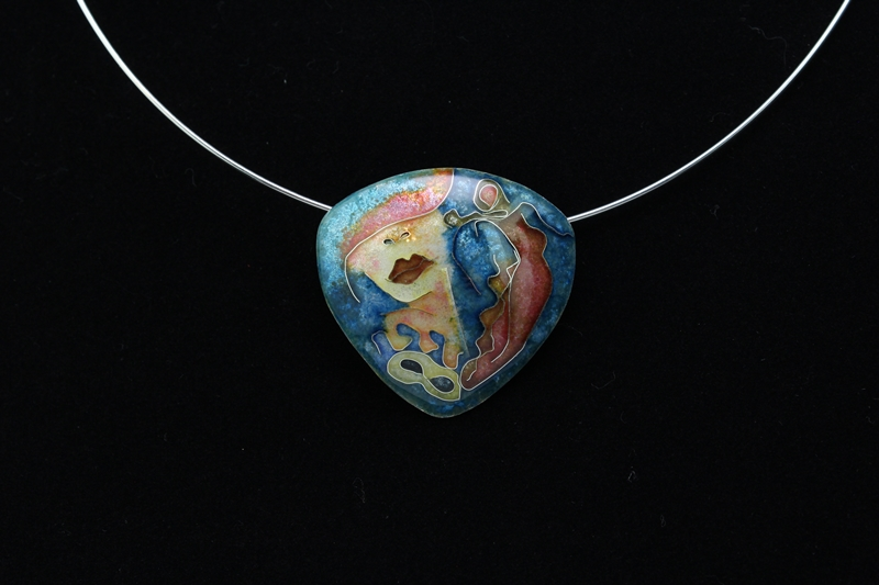 Going to the Ball Cloisonne Pendant by Tonya Butcher